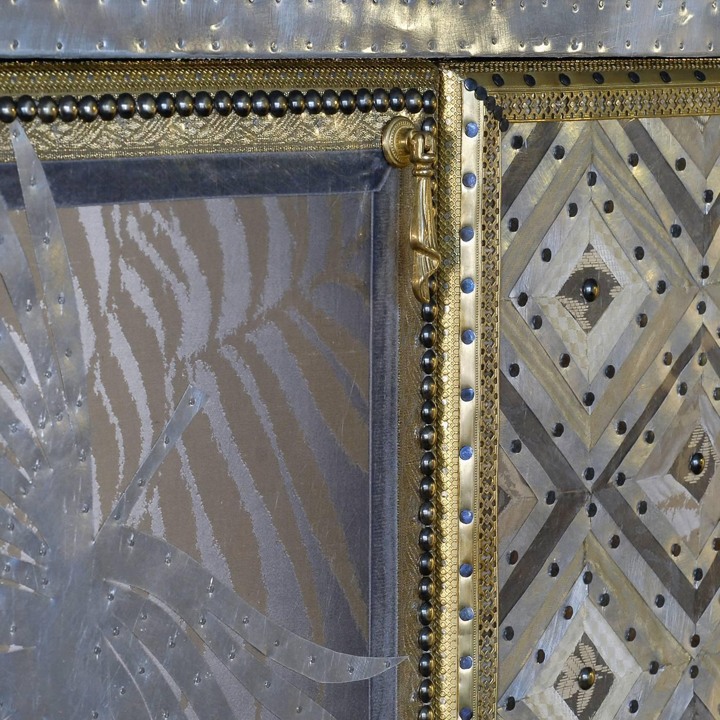 Brass and textile cabinet for sale at 1stdibs for Loft via savona 97