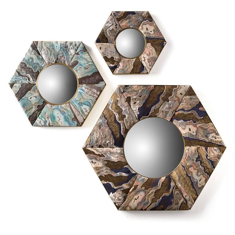 Magical Hexagonal Wall Mirror 3