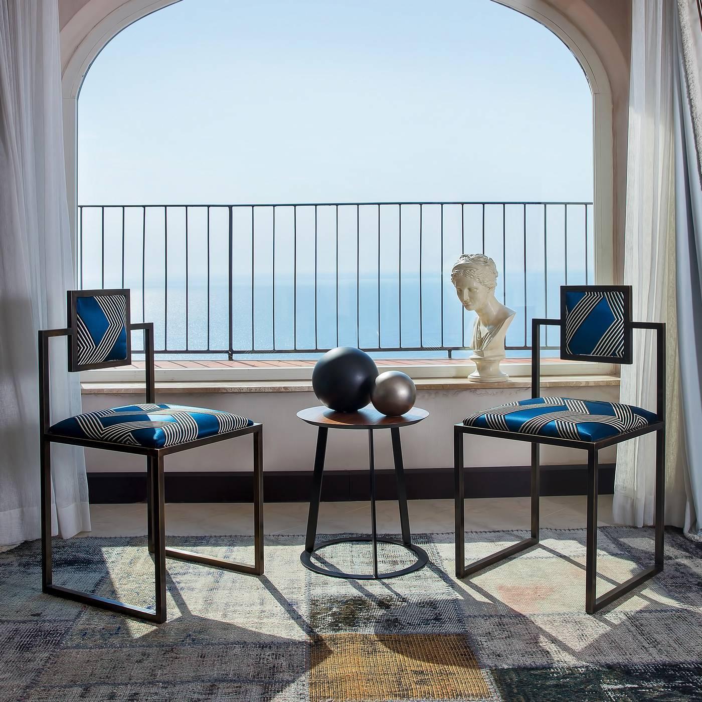 Stripes square chair for sale at 1stdibs for Loft via savona 97