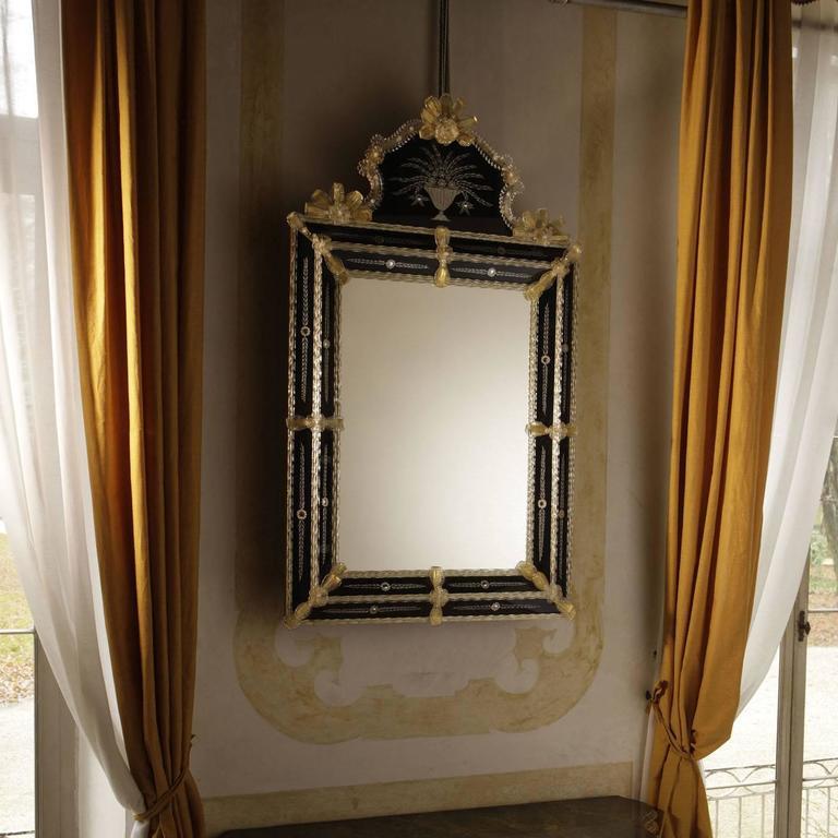 Rialto Bi-Color Mirror In New Condition For Sale In Milan, IT