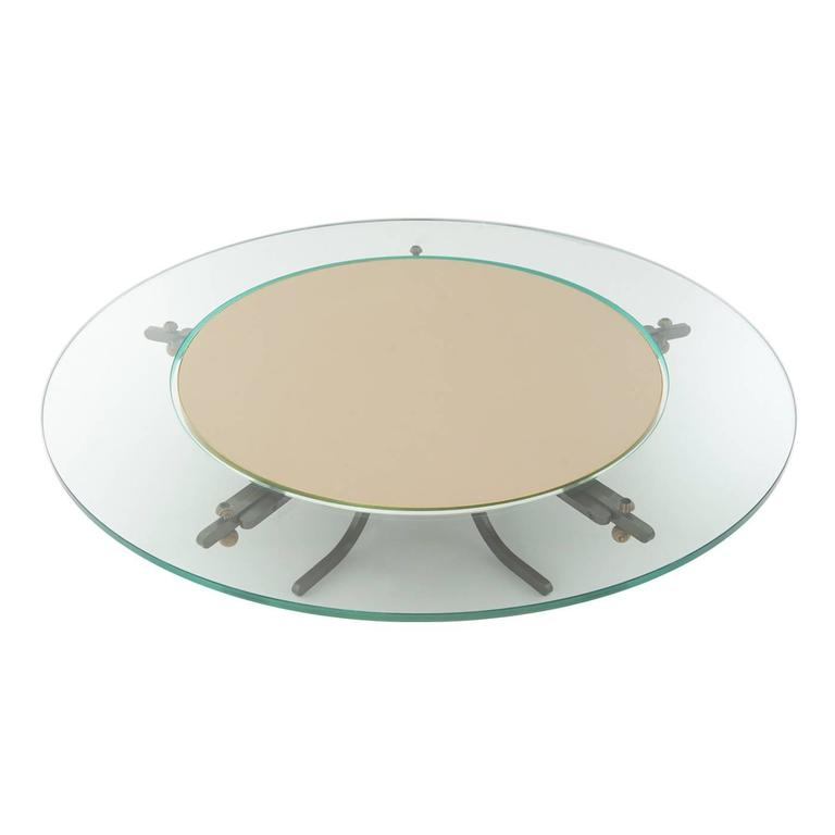 Yin And Yang Mid Century Modern Round Walnut Swedish: 'Giro' Round Coffee Table For Sale At 1stdibs