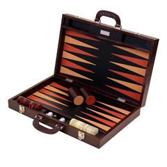 Large Brown 'Thesius' Backgammon Set