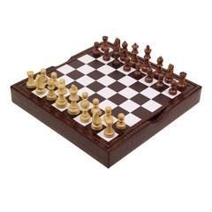 Brown Crocodile Print Chessboard