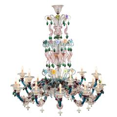 Semi Rezzonico Murano Glass Chandelier