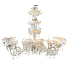 Ovale Murano Glass Chandelier
