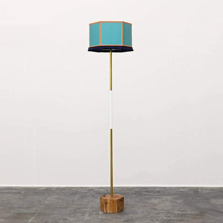 Easy floor lamp 3 for sale at 1stdibs for Olive wood floor lamp