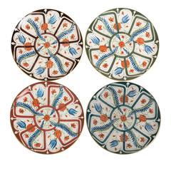 Set of Four Ceramic Izmir Dinner Plates