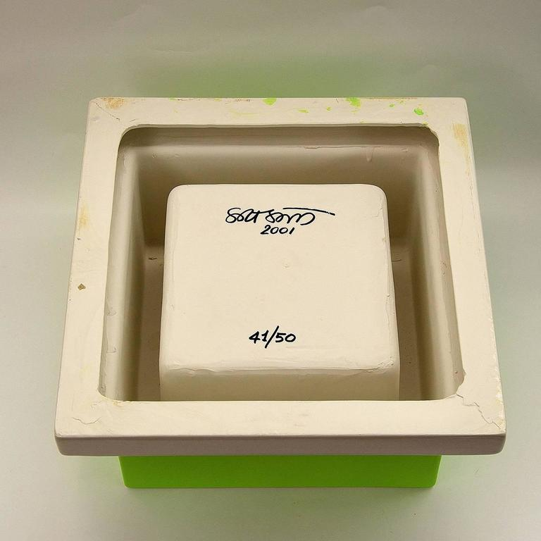 Hand-Crafted Fruit Tray Green by Ettore Sottsass For Sale