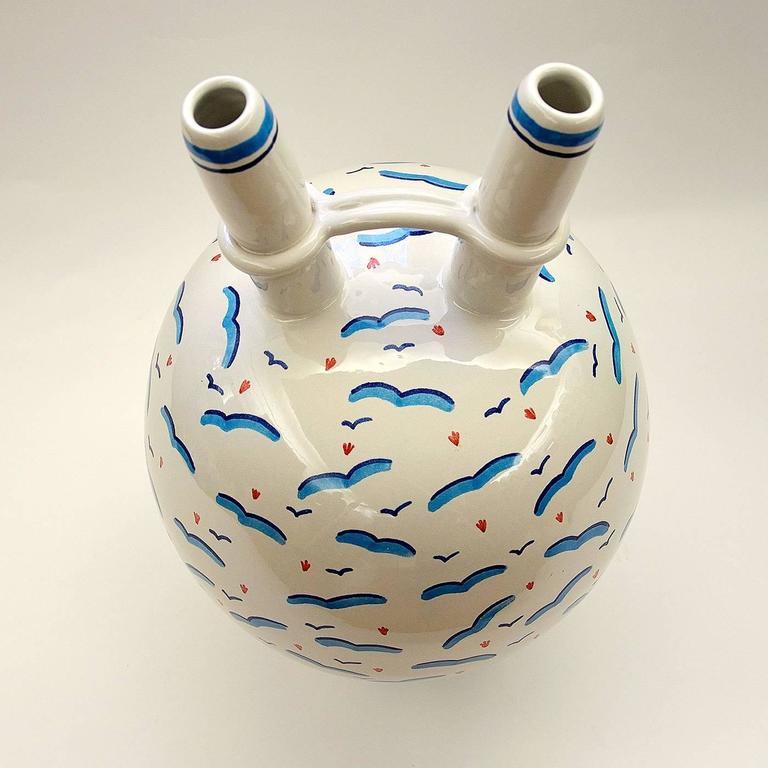 White Vase with Gulls by Ugo La Pietra 4