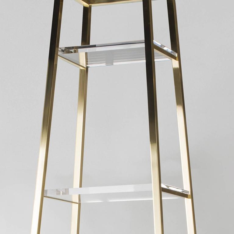Italian Obelisco Etagere For Sale