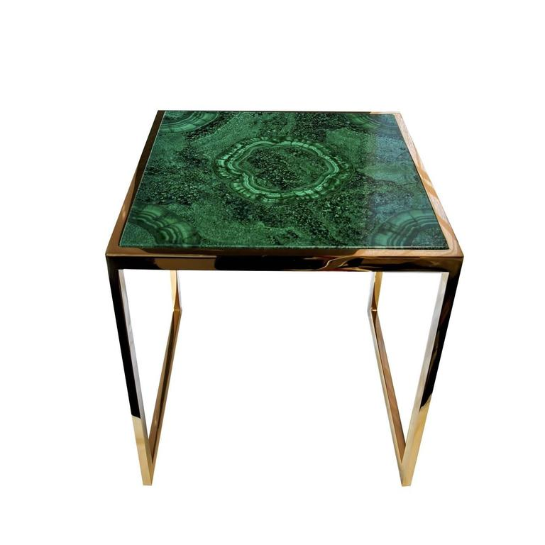 Hako Coffee Table: Malachite Side Table For Sale At 1stdibs