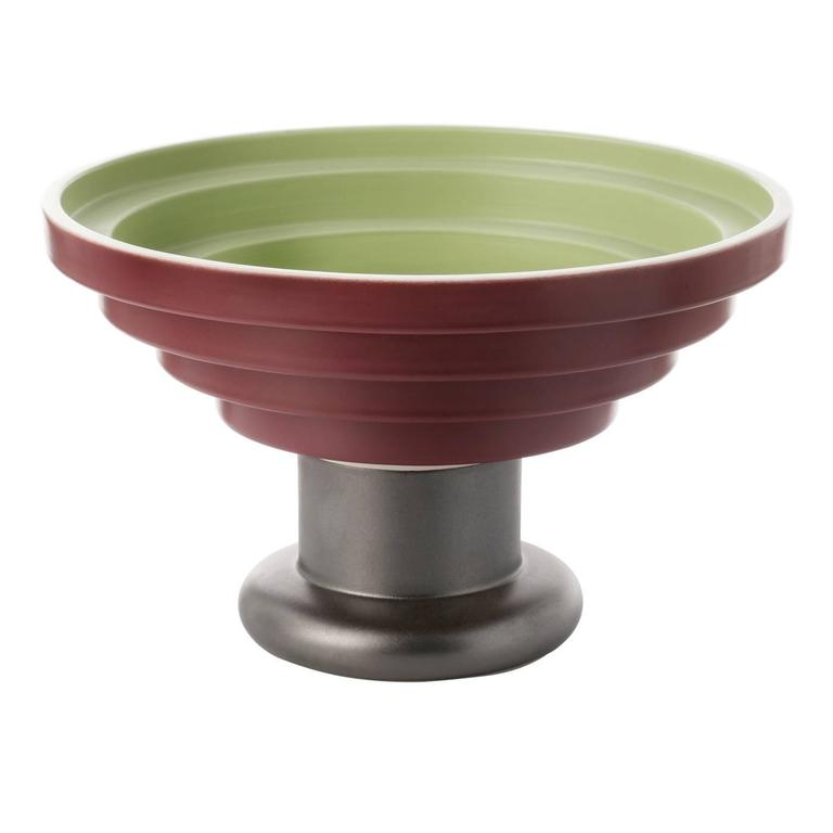 Large Green and Red Centrepiece by Ettore Sottsass