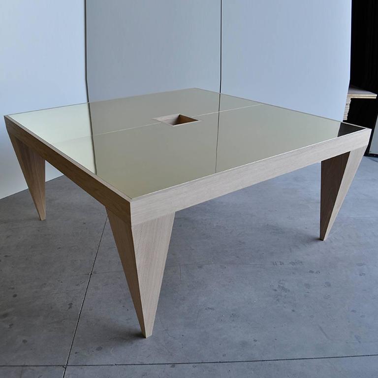 Contemporary Square Desk For Sale