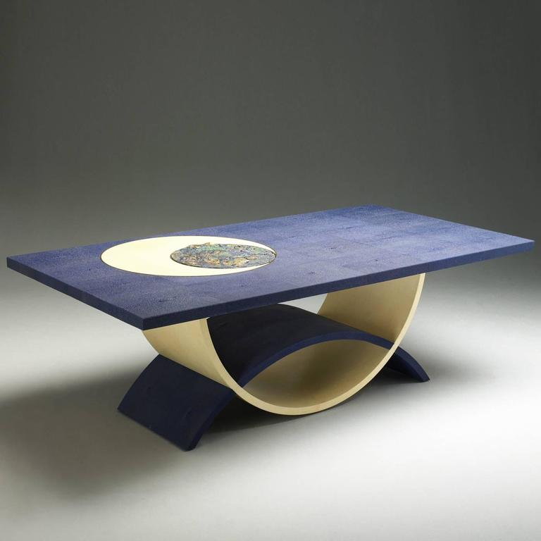 Exclusive Blue And Yellow Coffee Table For Sale At 1stdibs