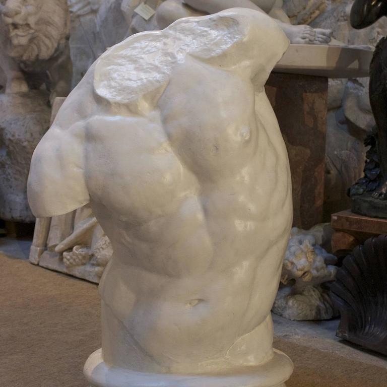 Gaddi Torso Large Plaster Sculpture In New Condition For Sale In Milan, IT