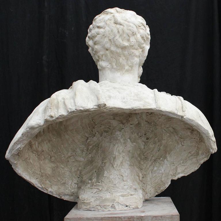 Italian Marco Aurelio Plaster Sculpture For Sale