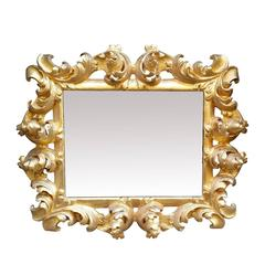 Breathtaking Wood Frame in 'Scartoccio' Baroque Style