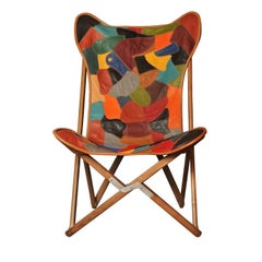 Patchwork Leather Tripolina Chair