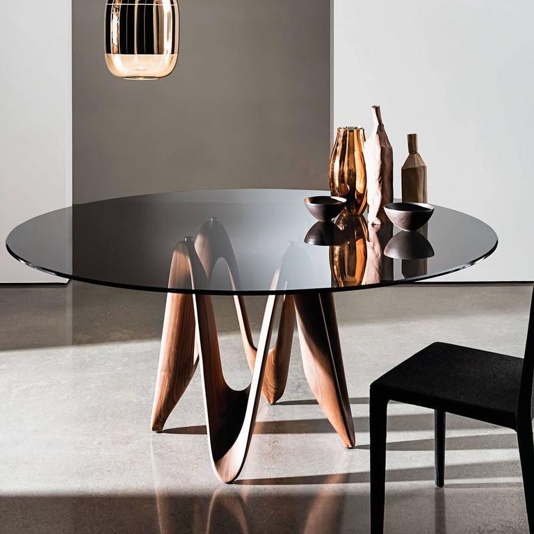 Italian Lambda Tinted Table For Sale