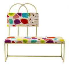 Colorful Sophisticated Bench