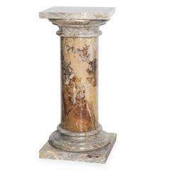 'Breccia' Column with Base and Capital