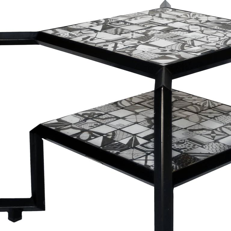 Black And White Spider Mosaic Tile Table For Sale At 1stdibs