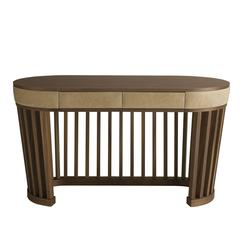 Luxury Round Desk with an Elegant and Sinuous Design