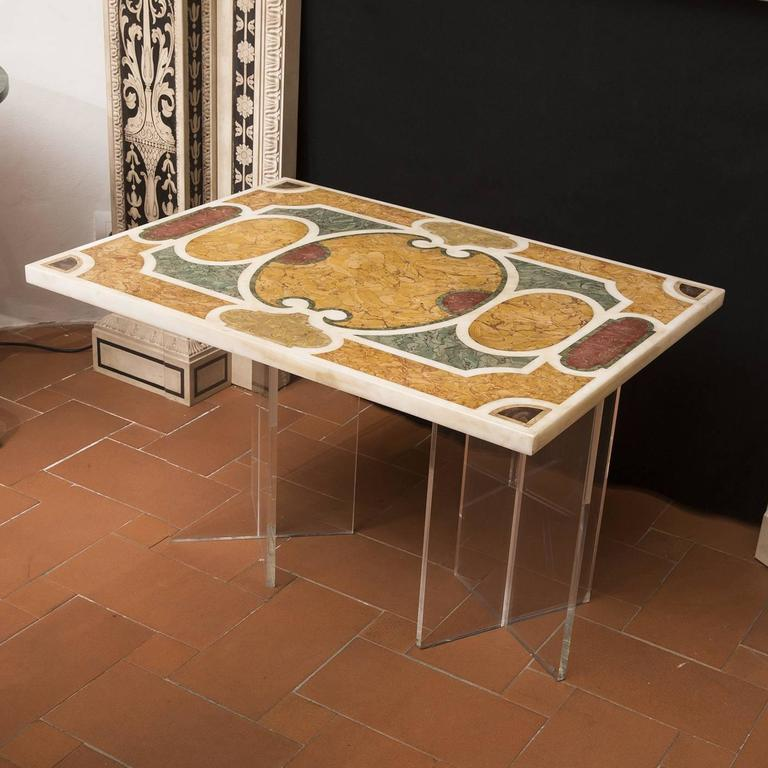 Timeless Antica Roma Marble Intarsia Table For Sale At
