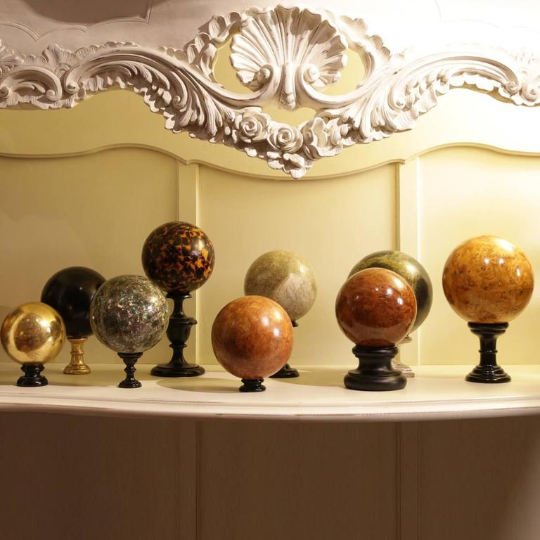 Breathtaking 'Tortoiseshell' Wood Mosaic Sphere 4