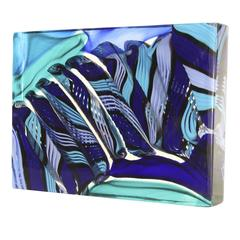 Stunning Monolith with Shades of Blue and Purple