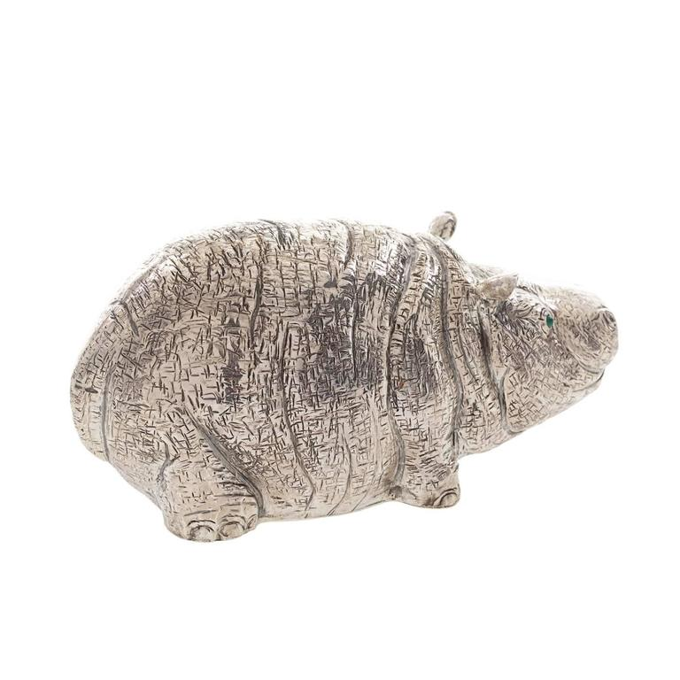 The Hippo Sterling Silver Lighter In New Condition For Sale In Milan, IT