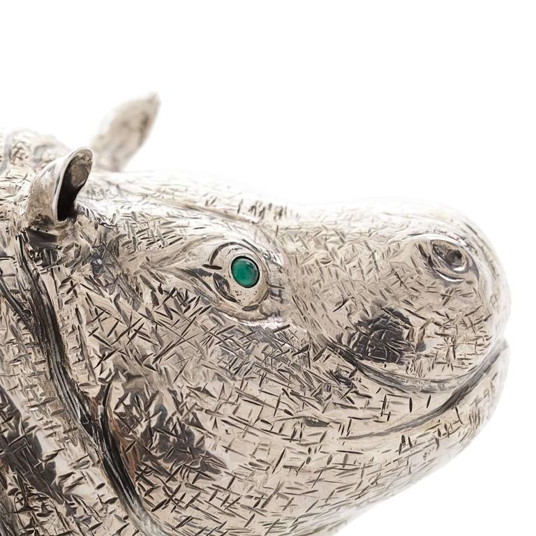 Contemporary The Hippo Sterling Silver Lighter For Sale