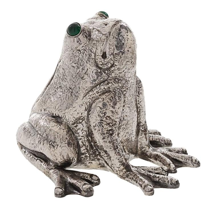 The Frog Sterling Silver Lighter For Sale
