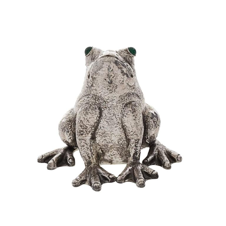Italian The Frog Sterling Silver Lighter For Sale