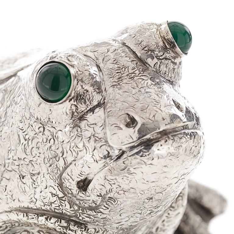 Contemporary The Frog Sterling Silver Lighter For Sale