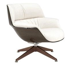Sophisticated White Leather Armchair