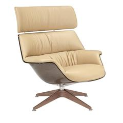 Sophisticated Light Brown Leather Lounge Chair