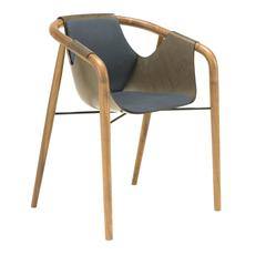 Outstanding Brown and Blue 'Hamac' Armchair