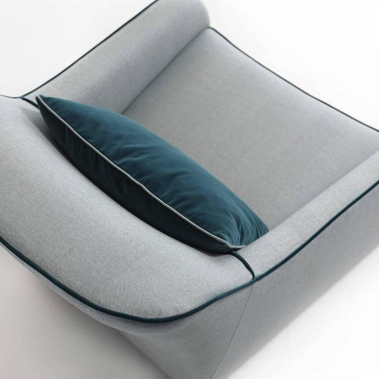 Outstanding Pale Blue Armchair with a Sinuous Design 3