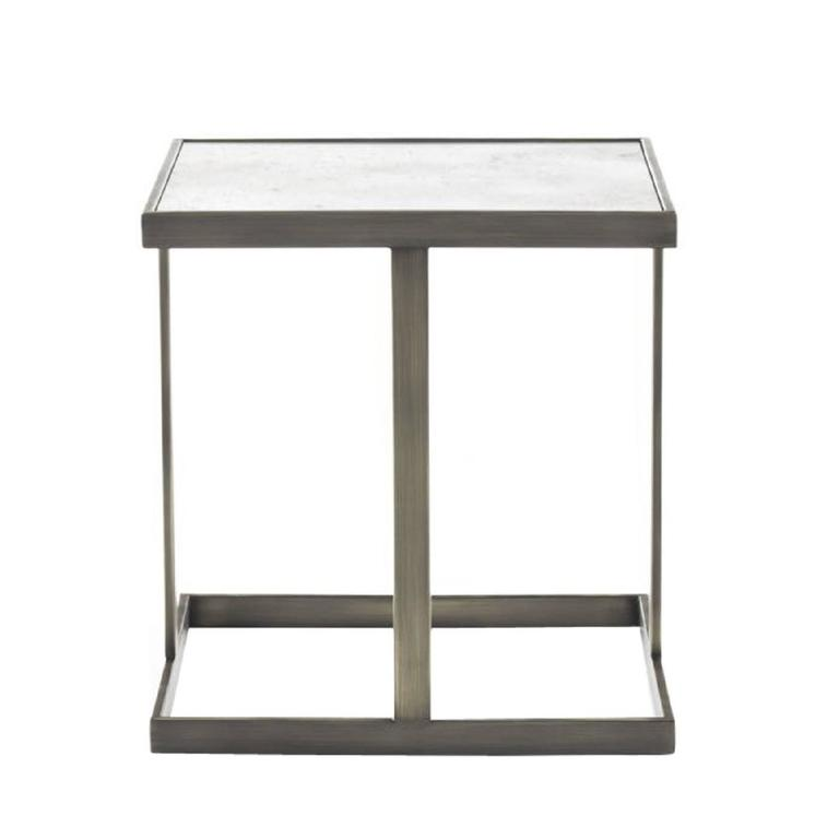 Astor Coffee Table with Calacatta Marble Top For Sale