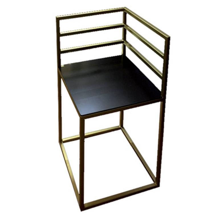 Stylish Cornerframe Chair With A Minimalistic Backrest