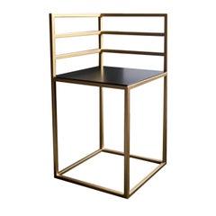 Stylish 'Cornerframe' Chair with a Minimalistic Backrest
