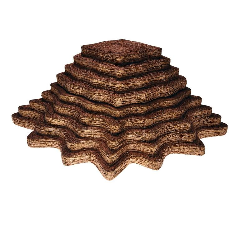Stylish Jewelry Holder in Burnished Copper Leaf 1