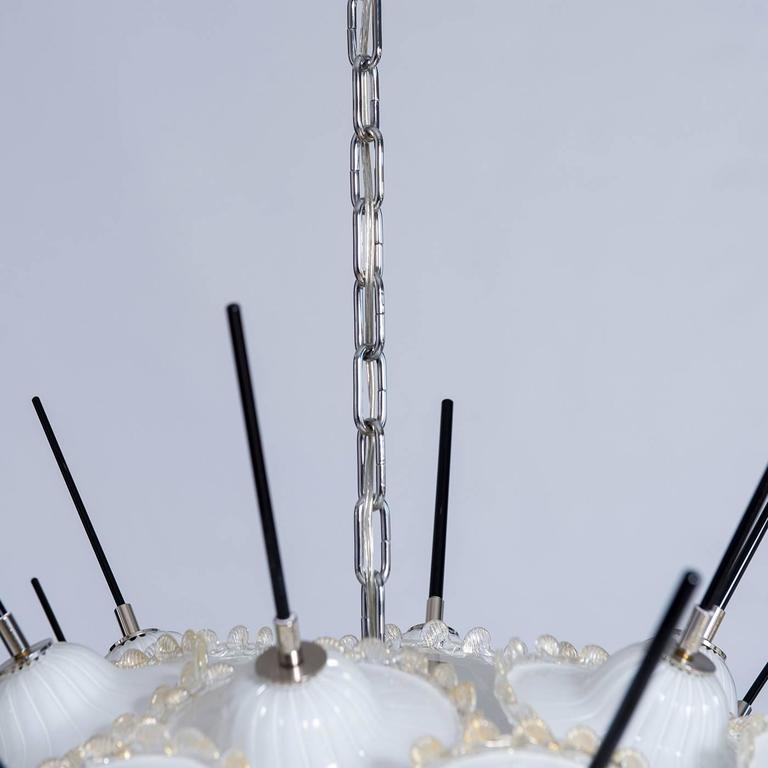 Other Italian Sputnik and Gold Chandelier by Giovanni Dalla Fina For Sale