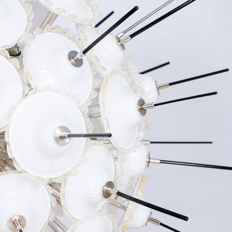 Contemporary Italian Sputnik and Gold Chandelier by Giovanni Dalla Fina For Sale