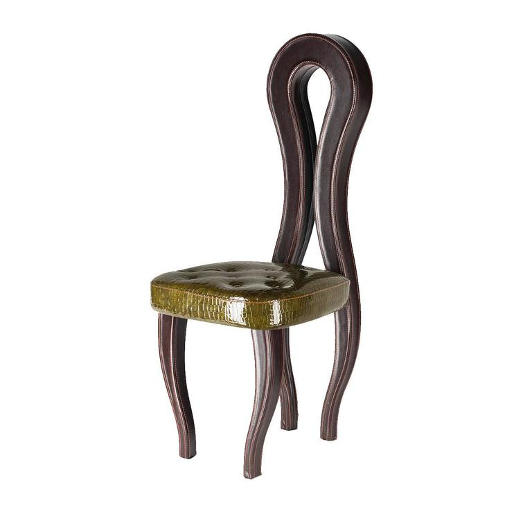 Unique Silhouette Leather Chair For Sale At 1stdibs