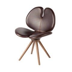 New Pansè Leather and Wood Chair