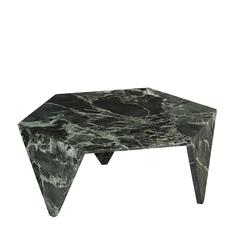 Elegant Green Marble 'Ruche' Coffee Table