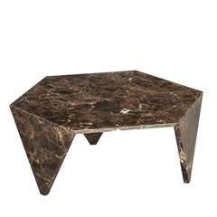 Elegant Marble 'Ruche' Coffee Table
