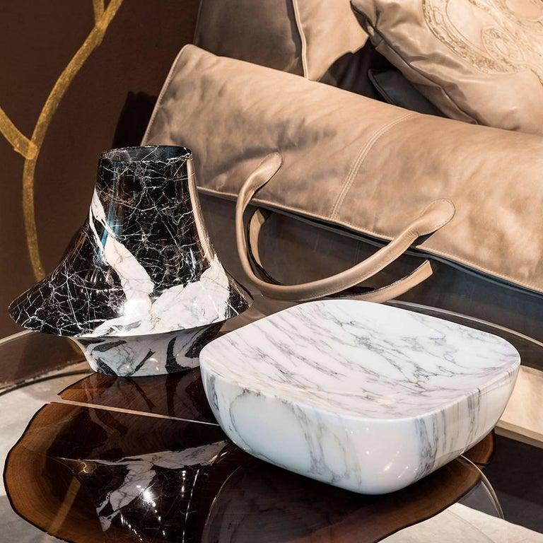 Contemporary Eccentrico Small Marble Decorative Vase For Sale